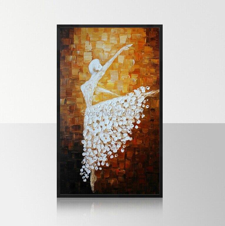 Handmade home decor modern wall art picture ballet girl dancer thick font b knife b font