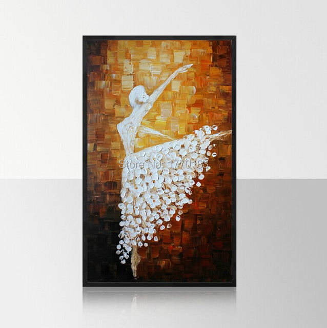 Handmade Home Decor Modern Wall Art Picture Ballet Girl Dancer Thick Knife  Paintings On Canvas For