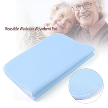 2pcs Reusable Incontinence Bed Pads 4 Layers Washable Pad Absorbent Pad For Adults Incontinence Pad Baby Bedwetting 45 * 60cm(China)