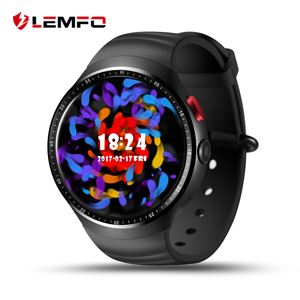 2017 NEW! LEMFO LES1 <font><b>Bluetooth</b></font> Smart Watch MTK6580 1.39&#8243; OLED Round Support SIM Card For Android <font><b>IOS</b></font> Phone