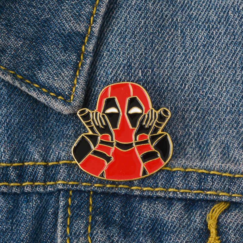 Anime Logam Bros Kerah Paduan Bros Kemeja Jeans Tas Lencana Di Ransel Pin Kartun