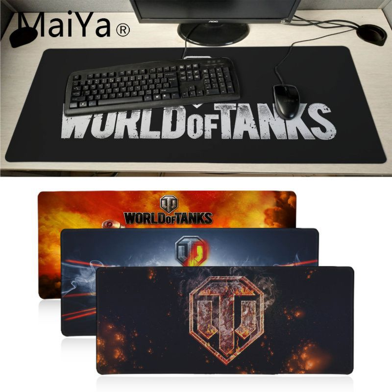 Maiyaca World Of Tanks Logo Durable Desktop Mousepad Table Keyboard Gaming Mouse Pad 60X30CM Large Office Computer Desk Mat