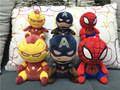 50pcs 10cm Superhero Stuffed Animals Cartoon 4 inch Spiderman Iron Man Captain America Plush Toys PP Cotton With Tag