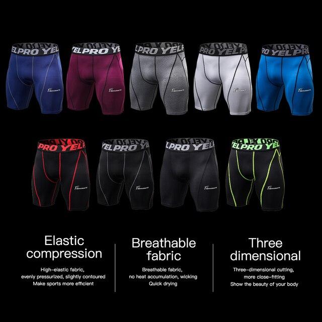Queshark hommes Compression entraînement Shorts couleur unie couche de Base collants basket entraînement Performance course pantalon court