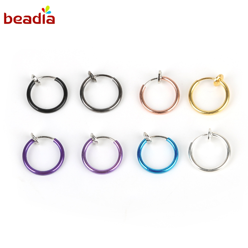 US $1.38 37% OFF|Stealth Clip Earrings Hook without piercing Fashion Jewelry For Women Men NO Hole Clip Earrings ear cuff nose navel clips folder-in Clip Earrings from Jewelry & Accessories on AliExpress