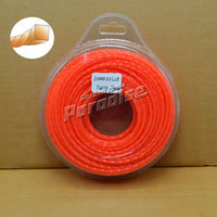 0 120 3 0mm Diamemter 0 5LB Twist Square Garden Grass Trimmer Line Orange Color Blister