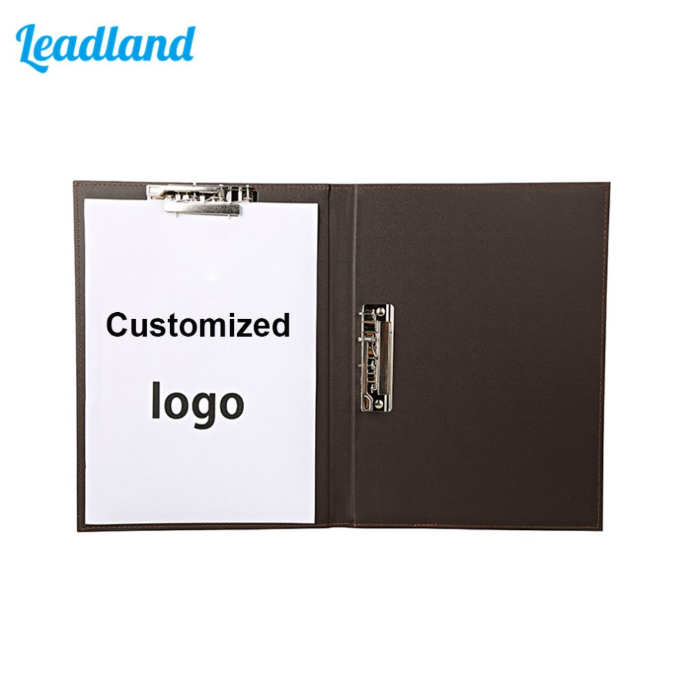 Multi-function A4 Clipboard Folder Leather Office File Organizer Business Document Clip Writing Pads Legal Paper Contract a4 pu leather file folder document paper box organizer office gift