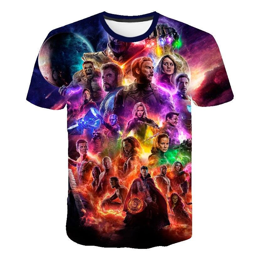 New Design T Shirt Men/Women Marvel Movie Avengers Endgame 3d Print T-Shirts Short Sleeve Harajuku Style Tshirt Streetwear Tops