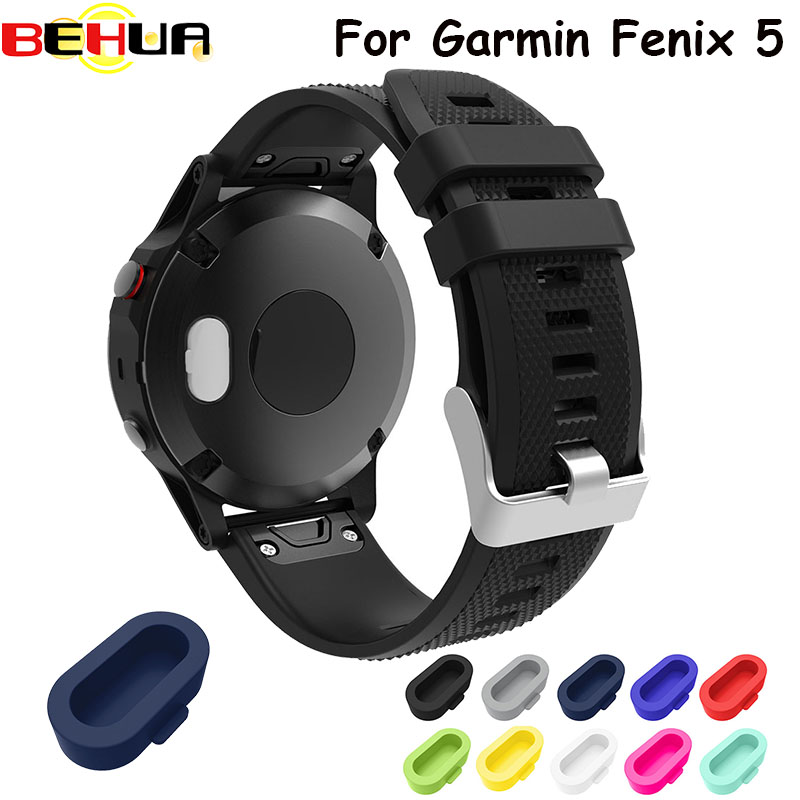 10 Colors Different Hot Dust Plug Function Good Designer Protector Of Smartwatch For Garmin Fenix 5 Silicone Cover 10pcs / Lot