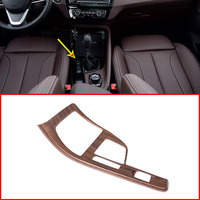 Pine Wood Grain For BMW X1 F48 2016 2018 For BMW X2 F47 2018 Center Console Decoration Frame Trim Car Accessories for LHD