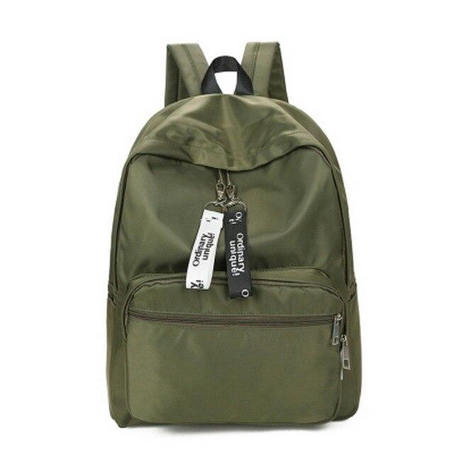 4c4d5dba4f Teenager Girls School Backpack Women Nylon backpacks Purse Lady Waterproof  Knapsack Laptop Travel Bags Feminina Bolsas B089