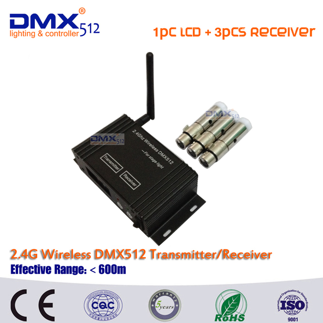 DHL Free shipping 2.4Ghz LCD Display Wireless DMX512 Receiver & Transmitter,DMX Wireless Controller for Stage Wifi Par Can