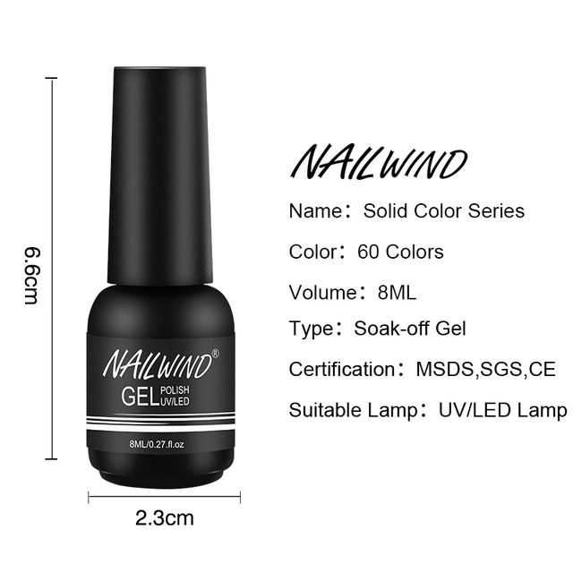 Nailwind Gel Nail Polish Pure Color Semi Permanent Base top Need UV LED lamp For Manicure Varnish Paint Hybrid ROSALIND nail gel 5