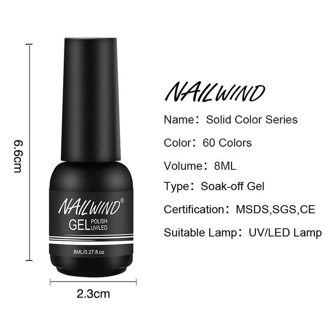 Nailwind Gel Nail Polish Varnishes Pure Color Semi Permanent Base top Need UV LED lamp Manicure Paint Hybrid  nails gel polish 5