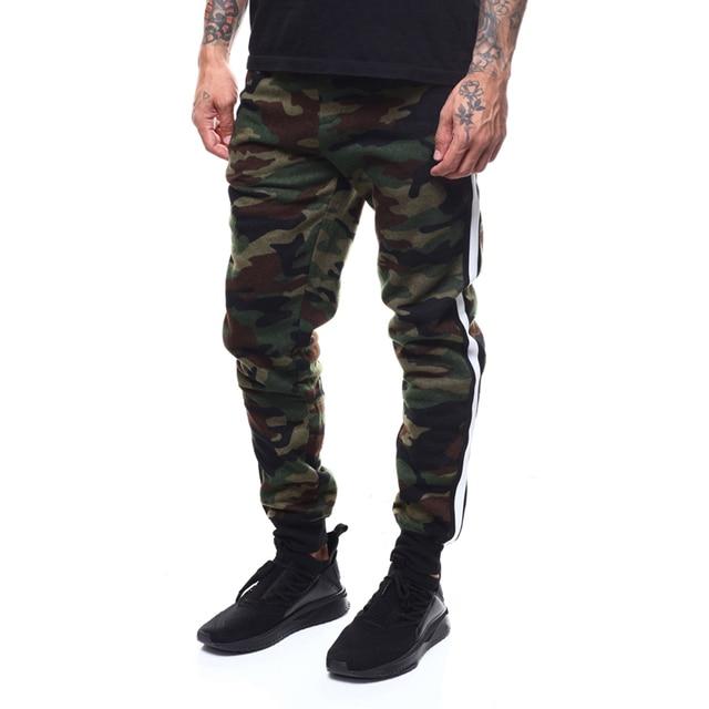 afff231e46428 2019 New Spring Camo Joggers Men Trousers Casual Camouflage Pants Men Sweatpants  Plus Size Pant Side Stripe Track Pants Joggers