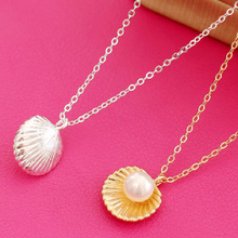 necklace Korean version fashion simple pearl shell short female clavicle jewelry wholesale gold