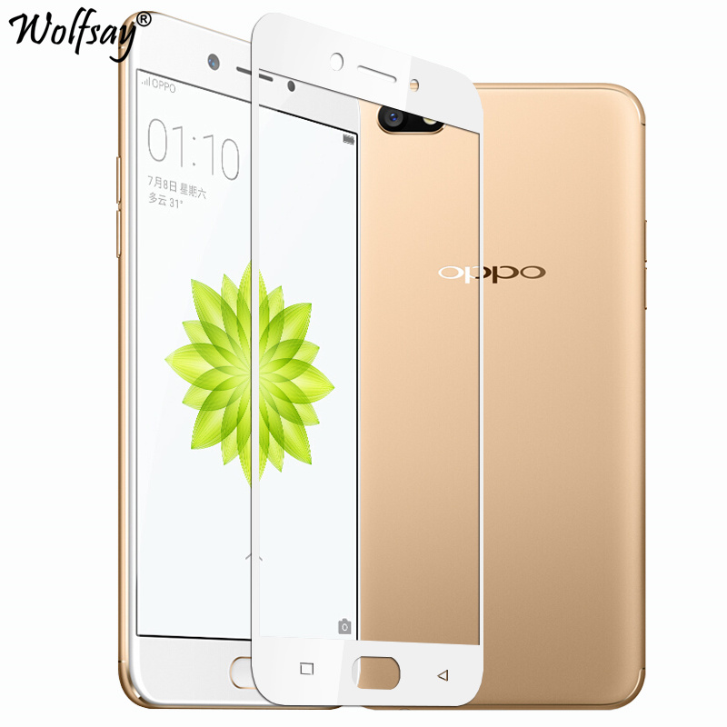 Wolfsay Full Cover Tempered Glass For Oppo F3 F1S A59 A39 A57 A37 A77 Screen Protector 9H Hardness Phone Film For Oppo F3 Glass