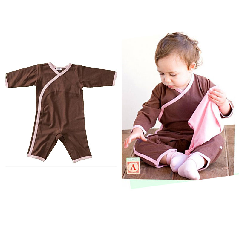 Organic Cotton Baby Boy Girl Long Sleeve Romper One Pieces ...