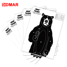 20/50/100pcs 42cm Shooting Target Paper Bear Silhouette Tactical Training Target Range Shooting Airsoft Bow Archery Indoor wosport wst box type reset shooting target linkage metal spinner outdoor indoor durable harmless steel archery airsoft gun