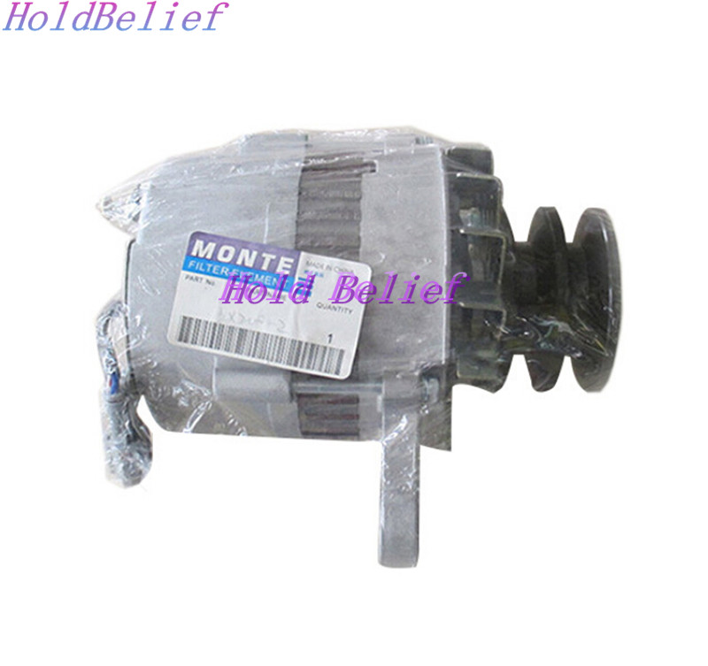 24V 30A Auto Alternator For Hitachi Excavator EX200-2 For Isuzu 6BD1T For Sumitomo SH200 new water pump for hitachi excavator ex120 2 for isuzu engine 4bd1