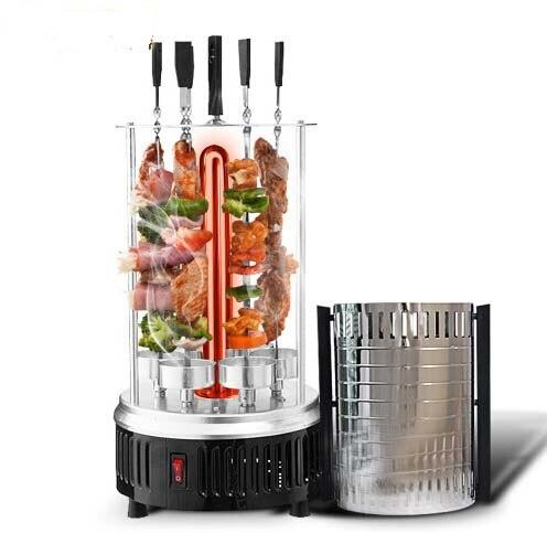 2018 mode sans fumée automatique rotatif Eletric Rôtissoires pour bbq chaîne viande et légumes 1000 w