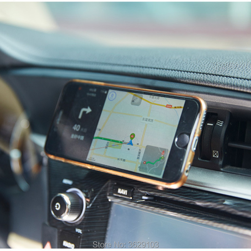 360 Degree Car Holder Magnetic Phone Holder air vent car Holder Stand for Land Rover discovery 2 3 4 freelander 2 defender a9 a8