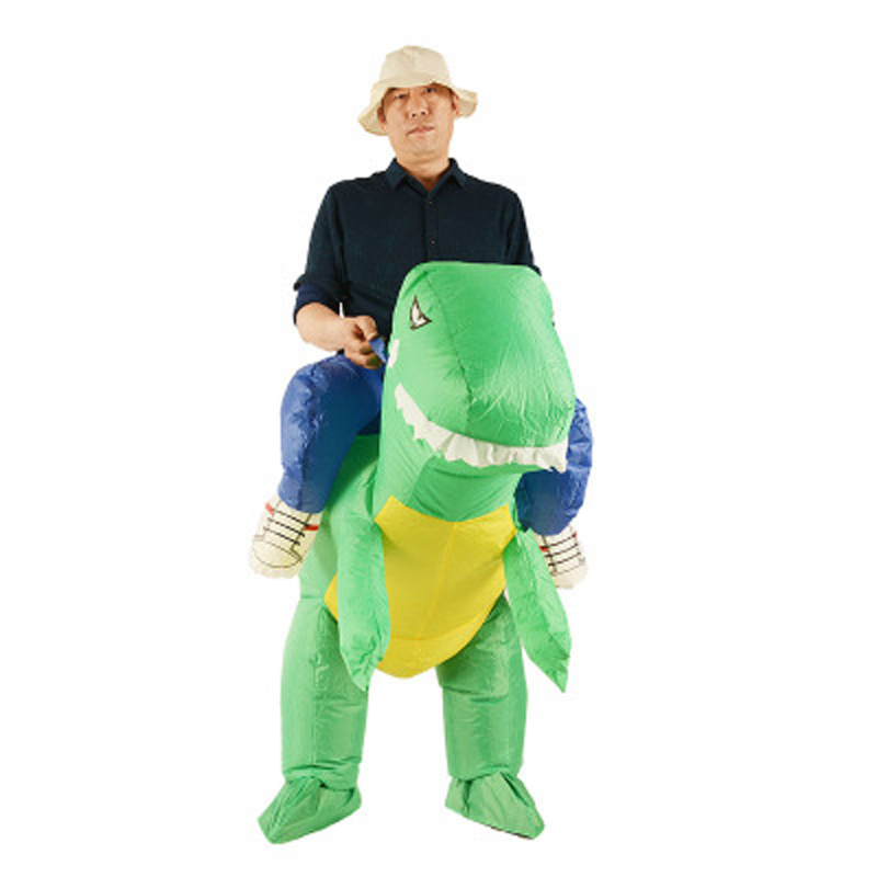 Inflatable Dino Rider T-rex Costume Halloween Purim Party Dinosaur Fancy Costume Animal Costume For Adults Year-End Bargain Sale Home