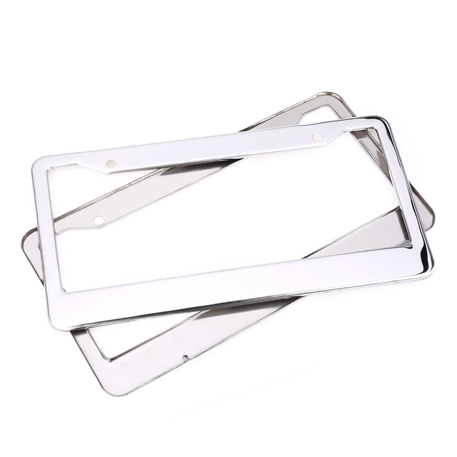 XC - 9E8 USA License Plate Frame Prevent Plate Number from Losing Stainless Steel Rust Protection for Car Truck RV Mini-van etc