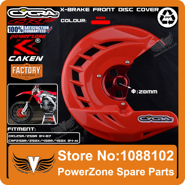 CRF X-Brake Front Brake Disc Rotor Guard Cover Protector Protection Fit CR CRF CR125 CR250 CRF250R CRF450R CRF250X CRF450X