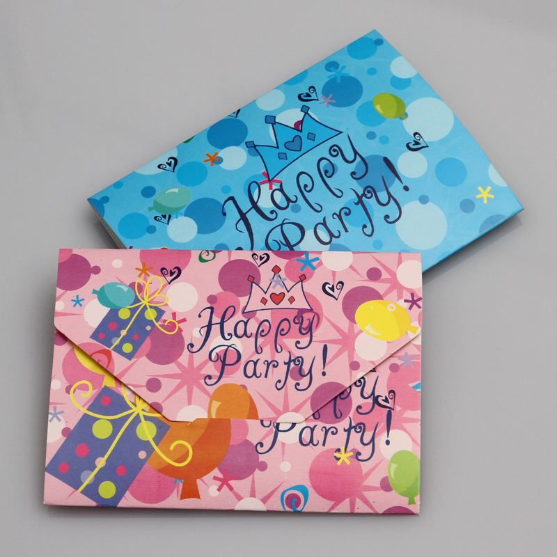 10pcs/lot Birthday Invitation Card Children Cartoon Crown Happy Birthday Party Invitation Cards Kids Greeting Cards Supplies
