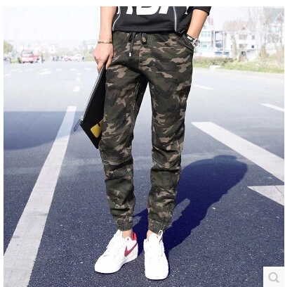 New2016 venta caliente holgados pantalones de camuflaje militar de carga ejército pantalones basculador de Los Hombres marca slim fit pantalón casual