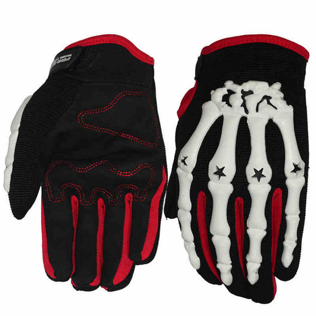 Skeleton gloves motocross men motorcycle racing gloves guantes luvas de motociclista gants moto cycling downhill gloves M L XL