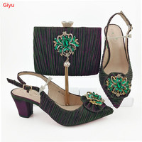 doershow colorful shoes and bag matching set italy 2019 designs for african shoes and bags wedding party free shipping!HVC1 19