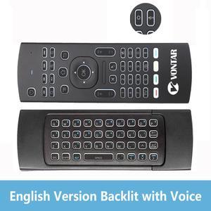 Image 3 - Arka ışık MX3 PRO hava fare ses uzaktan kumanda 2.4G kablosuz klavye MX3 rusça İngilizce IR öğrenme için H96 X96 max TV kutusu