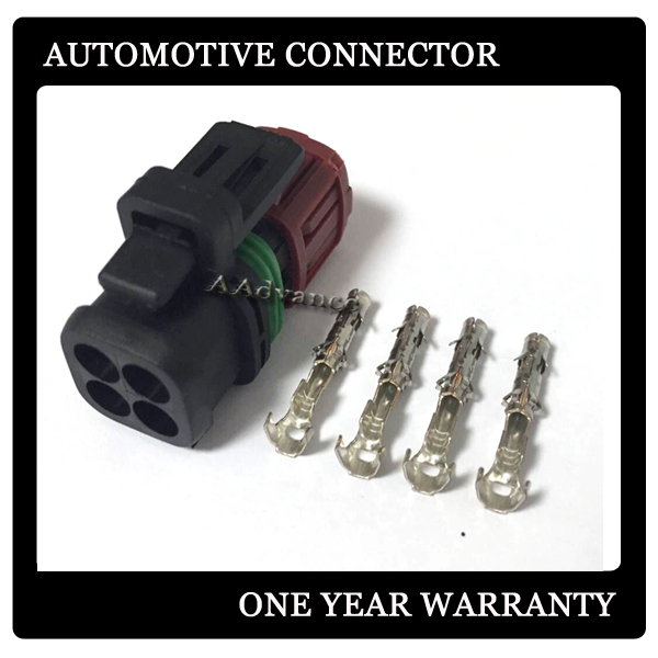 4 Way amp tyco waterproof electrical connector Plug kits with terminals 1337352 1