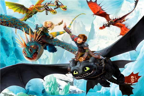 Free shipping httyd cartoon poster toothless hiccup custom - How to train your dragon hd download ...