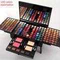 1 Unidades 180 Colores de Sombra de Ojos Moda Perla Shimmer Estudio Conjuntos Luminosos de Sombra de Ojos Maquillaje Paleta de sombra de Ojos Cosméticos de Larga Duración