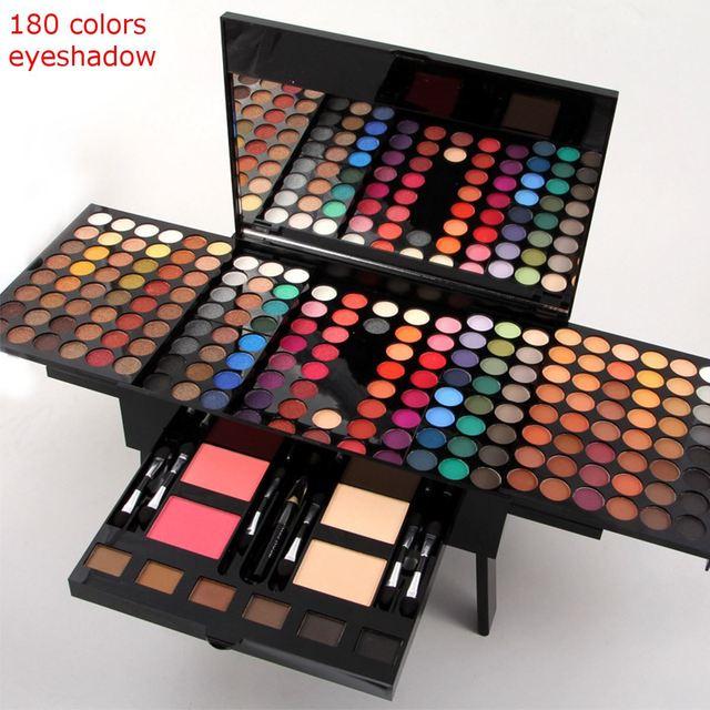 1set 180 Colors Fashion Eyeshadow Pearl Shimmer Studio Eyeshadow Luminous Sets Makeup Palette Long-Lasting Eyeshadow Cosmetic