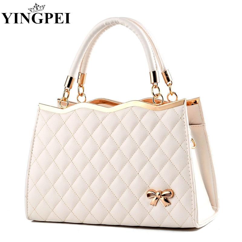 Women Messenger Bags Ladies Tote Small Shoulder Bag Woman Brand Leather Handbag Fashion Bag With Scarf Lock Designer Bolsas