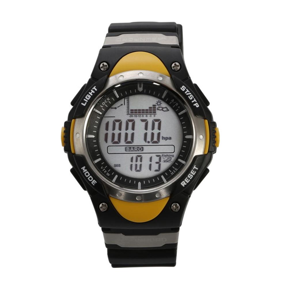 SUNROAD Fishing Barometer Watch FR718-Waterproof Digital Altimeter Clock Thermometer Weather Forecast LCD  Watch men c;lock