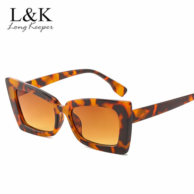05734547b255a 2018 Vintage Retro Sexy Square Sunglasses Brand Designer Fashion Leopard  Frame Rectangular Sun Glasses Women UV400