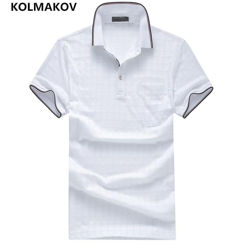 2019 KOLMAKOV Brand Polo Casual Shirt Cotton Poloshirt Homme Men Clothes Summer Short Sleeve Shirt Camisa Sportwear Collar