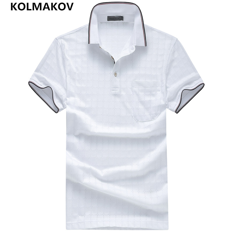 2019 KOLMAKOV Brand   Polo   Casual Shirt Cotton Poloshirt Homme Men Clothes Summer Short Sleeve Shirt Camisa Sportwear Collar