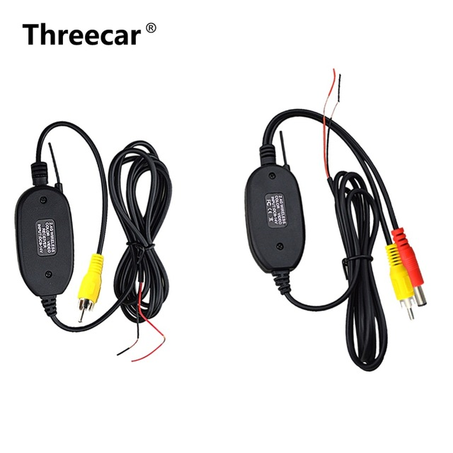 2.4 Ghz Wireless Rear View Camera RCA Video Transmitter & Receiver Kit for Car Rearview Monitor FM Transmitter & Receiver image