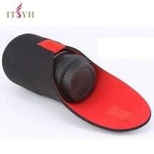ITSYH Kamerataschen SLR kamera objektivtubus dicken neopren tasche rot und schwarz professionelle objektiv barrel Fall größe S M L XL TW-371