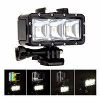 Flash Light Lamp Underwater Diving Waterproof 40m LED Flash Video Light Mount For GoPro SJCAM SJ4000 H9 H9R for Xiaomi Yi Camera