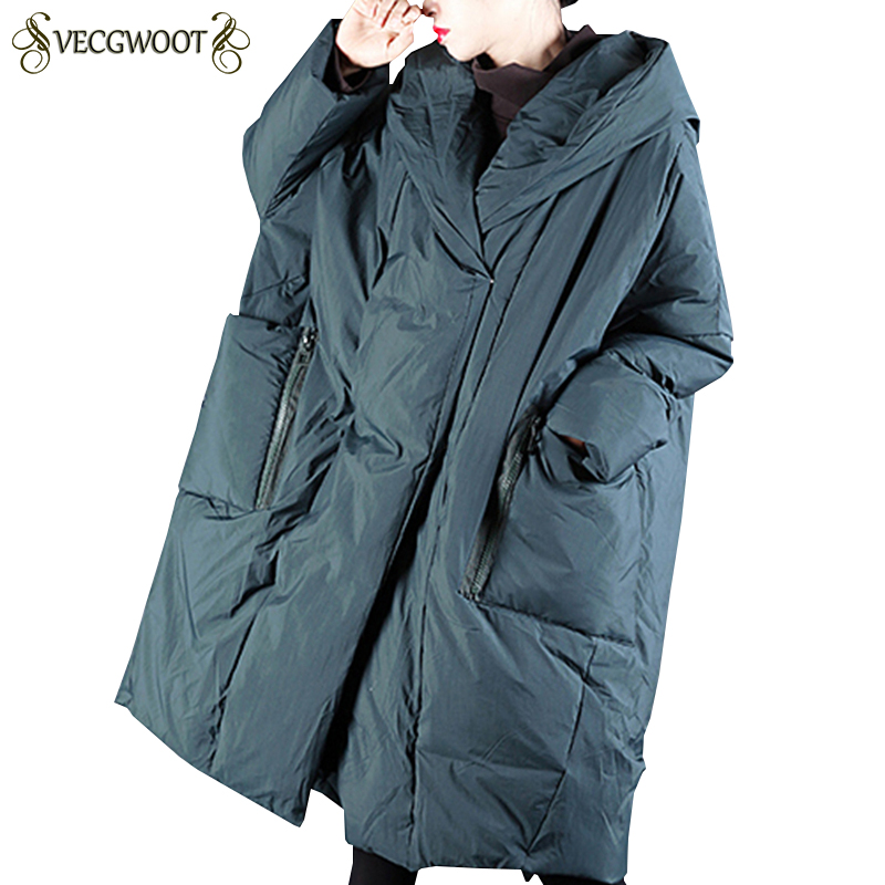 Winter Jacket Women New Hooded Fashion Warm Down Cotton Jacket Women Solid Color Large Size Wadded Jacket Long Parkas S706