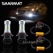 2X9006 HB4 21-SMD светодиодный фонарь днем Бег DRL лампы + Canbus декодеры для bmw audi volkswagen Mercedes -Benz европейских автомобилей