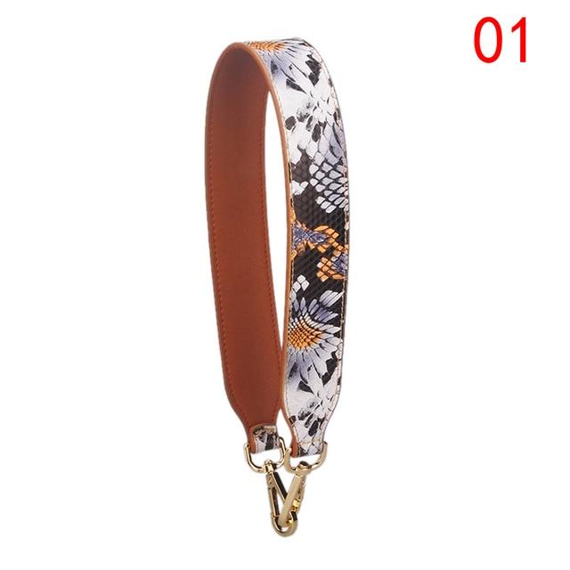SFG HOUSE New leather women handbag strap bohemian stylish bag Hit Color shoulder  bag belts replacement 75e32e11e9f06