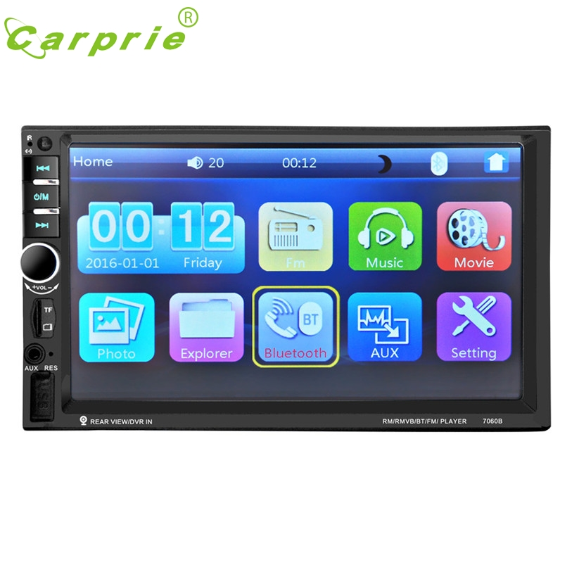 7'' HD Bluetooth Touch Screen Car Stereo Radio 2 DIN FM/MP5/MP3/USB/AUX  ja18 7 hd bluetooth touch screen car stereo radio 2 din fm mp5 mp3 usb aux camera 318